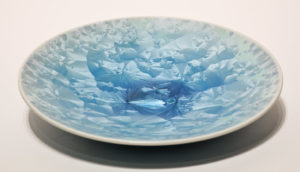 "SOLD Bowl (BB-3555) by Bill Boyd crystalline-glaze ceramic – 9"" $120"