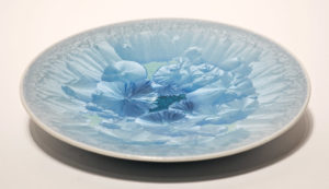 "SOLD Bowl (BB-3556) by Bill Boyd crystalline-glaze ceramic – 9"" $120"