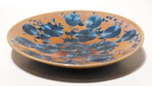 "SOLD Bowl (BB-3694) by Bill Boyd crystalline-glaze ceramic – 9"" $120"