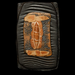 "SOLD ""Letter to Athena"" (LR-047), by Laurie Rolland hand-built ceramic – 9 3/4"" (H) x 6"" (W) $125"