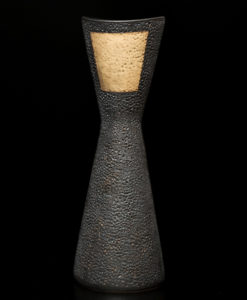 "SOLD Vase (LR-078) by Laurie Rolland Hand-built ceramic – 16 1/4"" (H) $240"