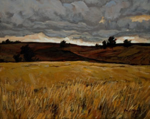 "SOLD ""Afternoon Storm,"" by Min Ma 8 x 10 – acrylic $580 Unframed"