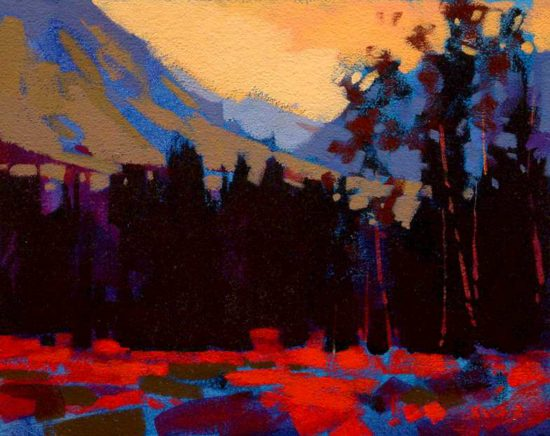 "SOLD ""Autumn (Banff),"" by Mike Svob 8 x 10 - acrylic $535 Framed"