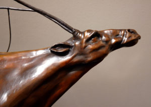"SOLD OUT ""Running Cariboo,"" by Nicola Prinsen Bronze - 19"" high x 25"" long Edition of 9 $4800"