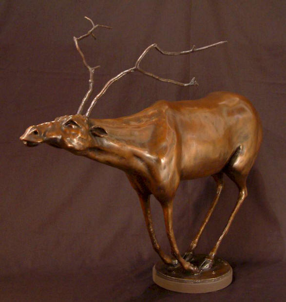 "Caribou - ""Halibu"" Bronze - 21"" high No. 1 of edition of 5 - $3,300 - SOLD No. 2 of edition of 5 - $3,300 - SOLD"