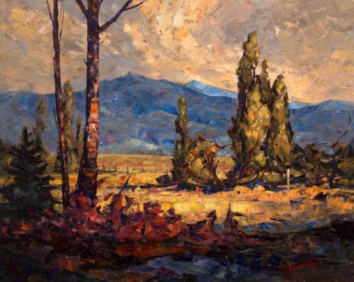 "SOLD ""Chilliwack Fields,"" by Phil Buytendorp 16 x 20 - oil $1120 Framed"