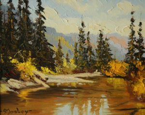 """SOLD """"Coldwater River"""" by Arnold Mosley 8 x 10 – oil on panel"""