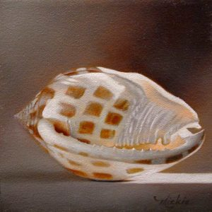 "SOLD ""Continuous"" by Mickie Acierno 6 x 6 - oil $300 (thick canvas wrap without frame)"