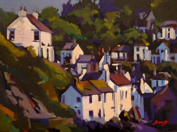 "SOLD ""Cornwall Hillside,"" by Mike Svob 12 x 16 - oil $1115 Framed"