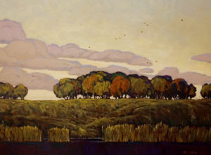 "SOLD ""Countryside,"" by Min Ma 12 x 16 – acrylic $1255 Framed"