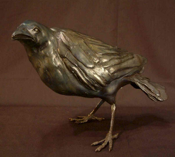 "Crow - ""Standing Tall"" Bronze - 8"" high No. 1 of edition of 25 - $2,200 - SOLD"