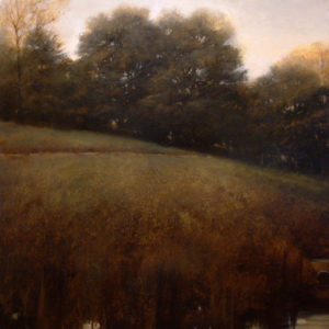 "SOLD ""Culvert and Cottonwoods"" by Renato Muccillo 24 x 24 - oil $2920 Framed ($3400 with custom show frame)"