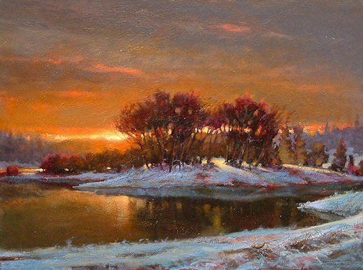 "SOLD ""Daybreak"" 18 x 24 - oil $1325 Framed"
