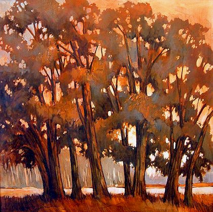 """SOLD """"Deciduous Cluster"""" 40 x 40 - acrylic $3025 Framed"""