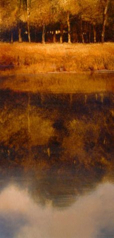 "SOLD ""The Drowning Pool,"" by Renato Muccillo 10 x 20 - oil $1100 Framed"