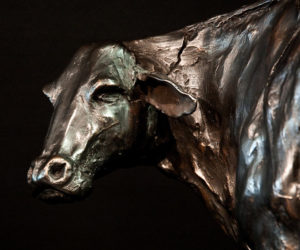 "SOLD OUT ""Everything is Broken,"" by Nicola Prinsen 21"" (L) x 14 1/2"" (H) - bronze $4000"