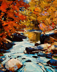 "SOLD ""Flowing Water (Study),"" by Min Ma 8 x 10 – acrylic $670 Unframed"