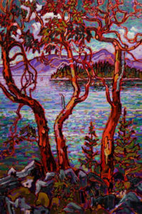 """SOLD """"From Pender to Texada"""" 24 x 36 - oil $2800 with custom show frame $2640 standard frame"""
