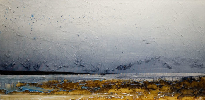 "SOLD ""From the Shore,"" by Laura Harris 24 x 48 - acrylic $3190 (thick canvas wrap without frame)"