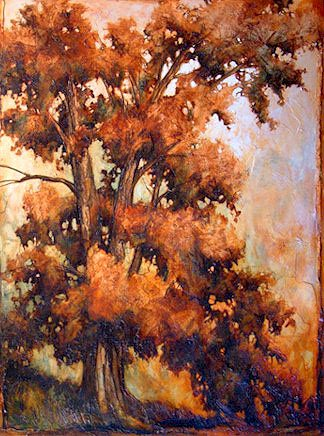 "SOLD ""The Giant Oak"" 60 x 80 - acrylic $5540 (thick canvas wrap without frame)"