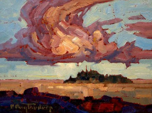 "SOLD ""Growing Cloud,"" by Phil Buytendorp 6 x 8 - oil $460 Framed"
