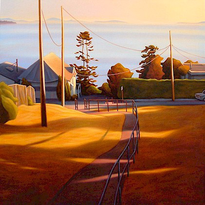 """SOLD """"Helen's Path, White Rock"""" 36 x 36 - oil $2850 (canvas wrap without frame)"""