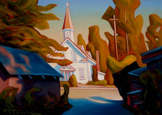 """SOLD """"In the Lane, Crescent Beach"""" 9 x 12 - oil $600 Framed"""