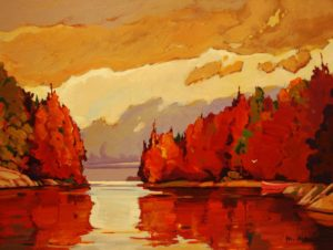 "SOLD ""Island Afternoon,"" by Min Ma 9 x 12 – acrylic $755 Framed"