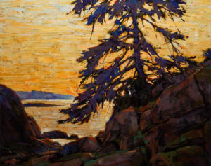 "SOLD ""Island Morning Light,"" by Min Ma 16 x 20 – acrylic $2170 Unframed"
