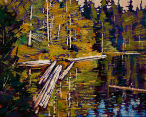 "SOLD ""The Lake in Summer,"" by Min Ma 8 x 10 – acrylic $580 Unframed"