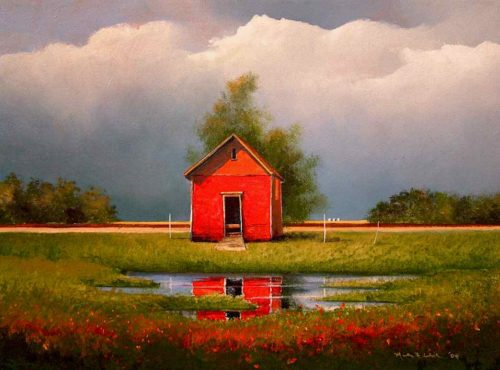 "SOLD ""Last Granary,"" by Mark Fletcher 12 x 16 - acrylic $1000 Unframed"