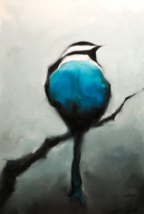 """SOLD """"Little Boy Blue""""  by Harold Braul 24 x 36 – oil $1400 (thick canvas wrap without frame)"""