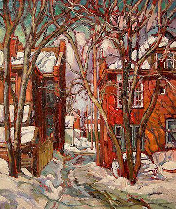 "SOLD ""Minus 10 in Hamilton, Ontario"" 12 x 14 - oil $670 Framed"