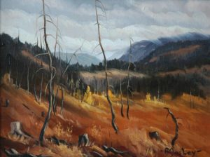 """SOLD """"Coldwater Valley"""" by Arnold Mosley 9 x 12 – oil on canvas"""