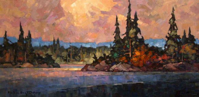 "SOLD ""Northern Afternoon"" by Phil Buytendorp 10 x 20 - oil $930 Framed"