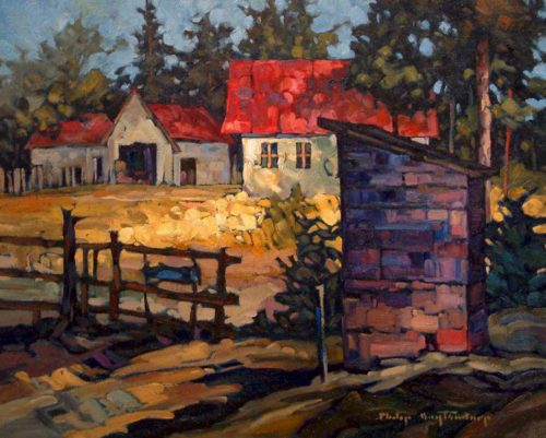 "SOLD ""The Old Yard,"" by Phil Buytendorp 16 x 20 - oil $1120 Framed"