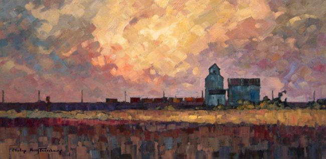 "SOLD ""On the Siding,"" by Phil Buytendorp 10 x 20 - oil $930 Framed"