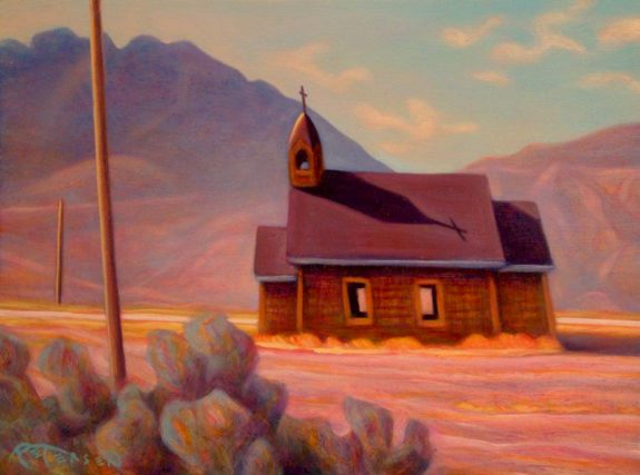 "SOLD ""Our Lady of the Desert, Spences Bridge,"" by Niels Petersen $650 Framed"