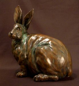 "SOLD OUT ""Jack,"" by Nicola Prinsen Bronze - 13"" high x 12"" long Edition of 5 $2,500"