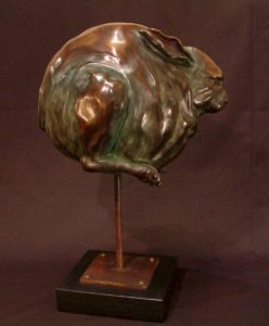 "SOLD OUT ""Fast Bunny #1,"" by Nicola Prinsen Bronze - 16 1/2"" high Edition of 5 $2400"
