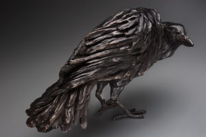 "SOLD OUT ""Raven,"" by Nicola Prinsen Bronze - 11"" height x 20"" length Edition of 9 $5600"