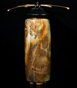 """SOLD Vase (133) by Geoff Searle Pit-fired pottery – 16 1/2"""" (H) $800"""