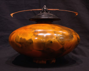 """SOLD Vase Pit-fired pottery – 9 1/2"""" high x 11 1/2"""" diameter $700"""