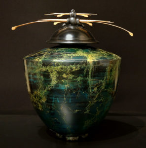 """SOLD Vase Pit-fired pottery – 14 1/2"""" high $950"""