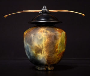 """SOLD Vase Pit-fired pottery – 8 1/2"""" high $365"""