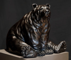 "SOLD OUT ""The Sitter,"" by Nicola Prinsen 25"" (L) x 18"" (H) x 20 1/2"" (W) - bronze No. 4 of edition of 9 $7900"