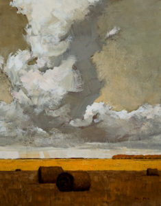 "SOLD ""Sky and Land,"" by Min Ma 11 x 14 – acrylic $900 Unframed"