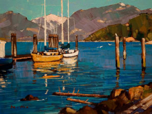 """Squamish View,"" by Min Ma 6 x 8 – acrylic $610 Framed $440 Unframed"