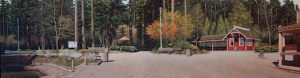 """SOLD """"Stanley Park"""" by Rod Penner 12 x 43"""