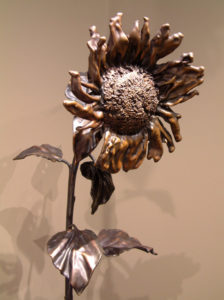 "SOLD ""September Sunflower No. 11"" by Nicola Prinsen Bronze - 6' 5"" height $8300"
